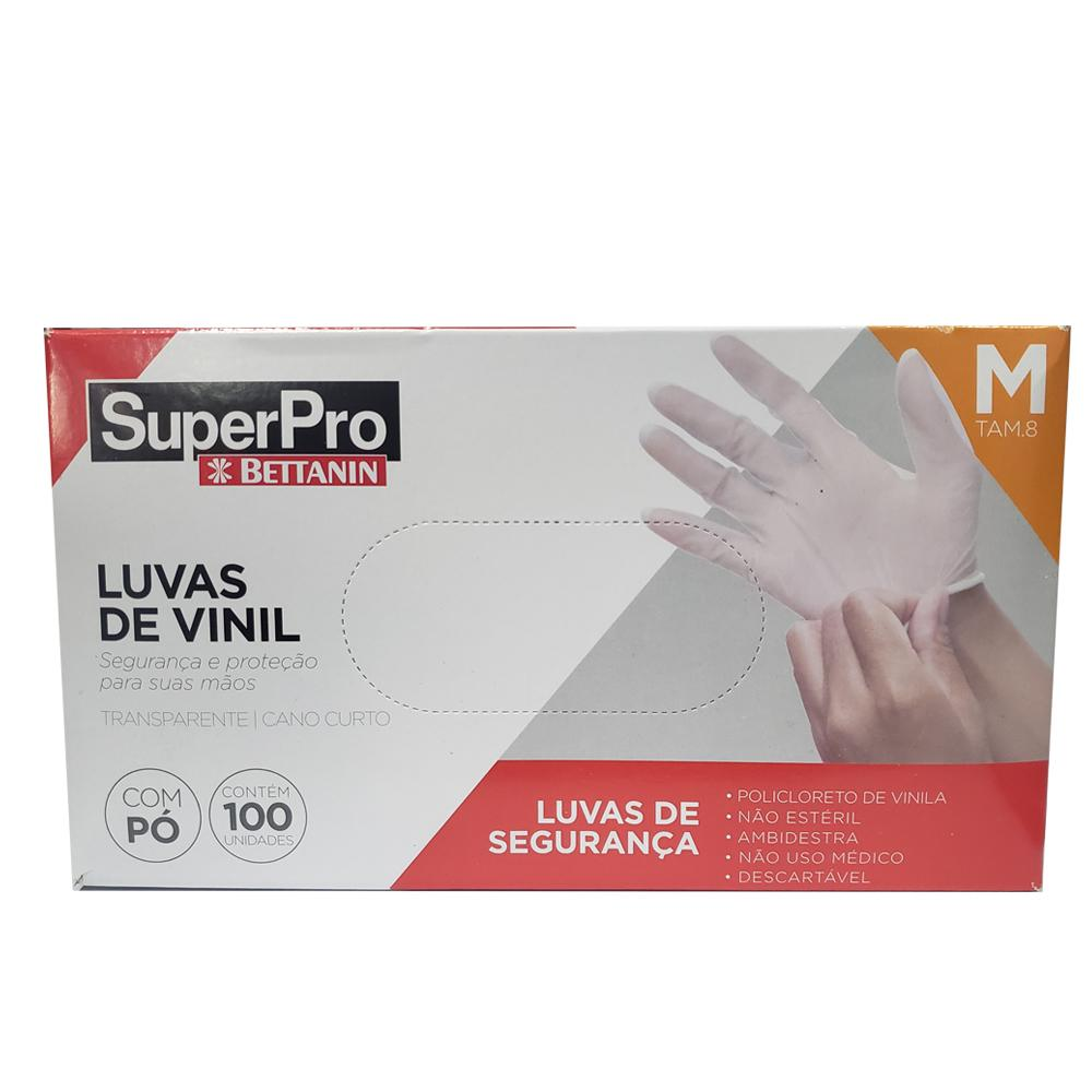 LUVA VINIL DESCARTAVEL CLEAR C/PO M