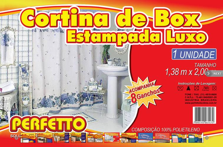 CORTINA BOX LUXO ESTAMPADA