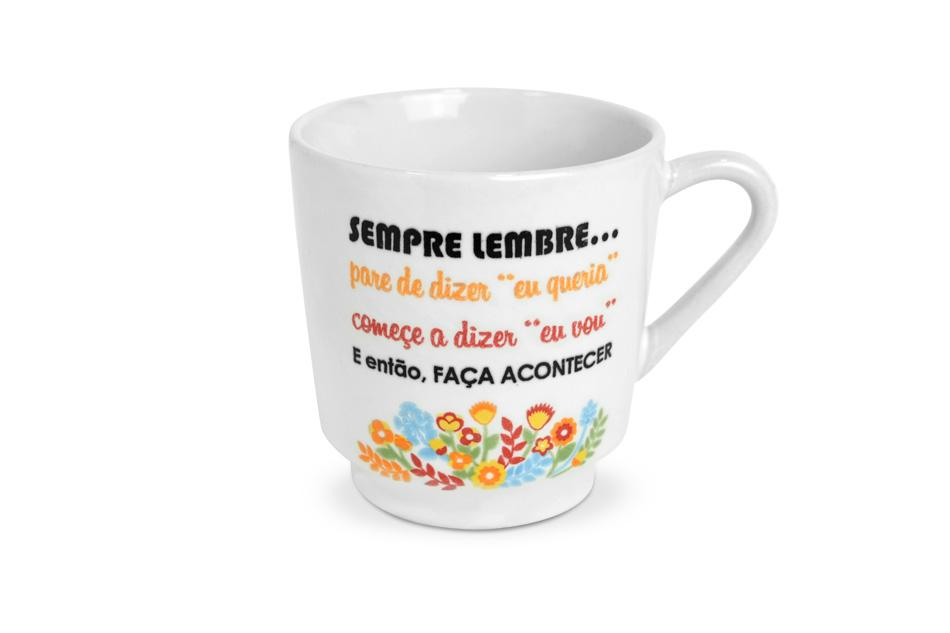 CANECA LISA DECORADA DIZERES 170ML