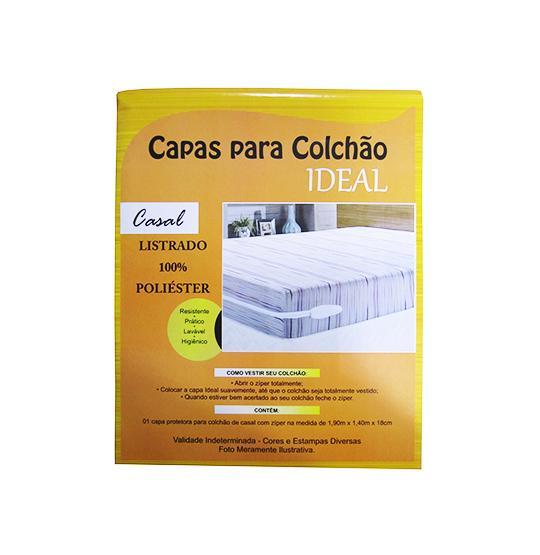 CAPA COLCHAO CASAL LISTRADA