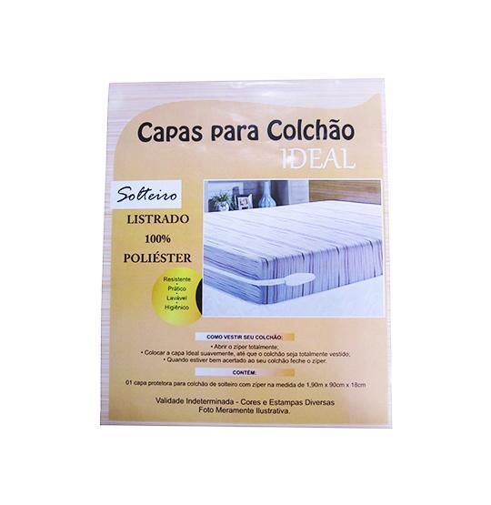 CAPA COLCHAO SOLTEIRO LISTRADO