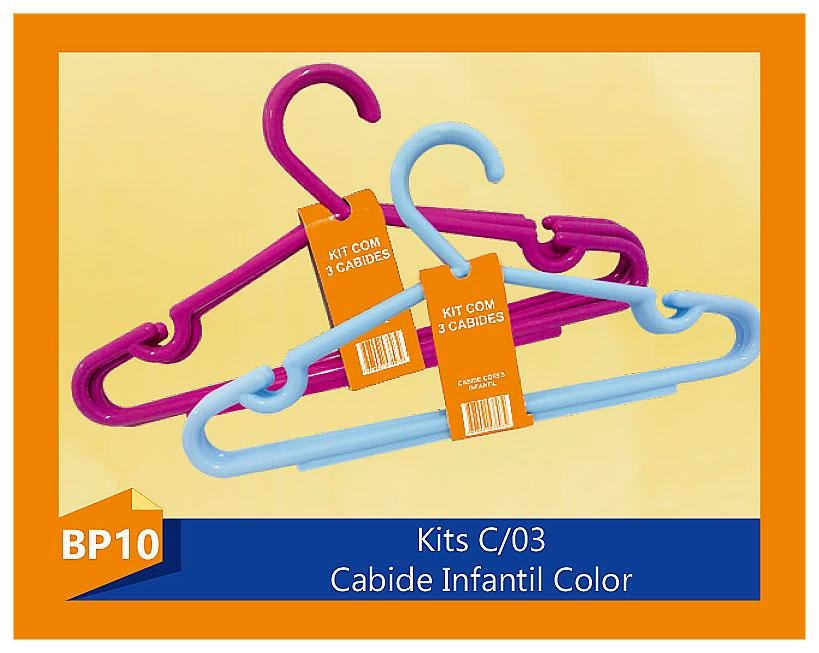 CABIDE INFANTIL COLORIDO C/3 UN
