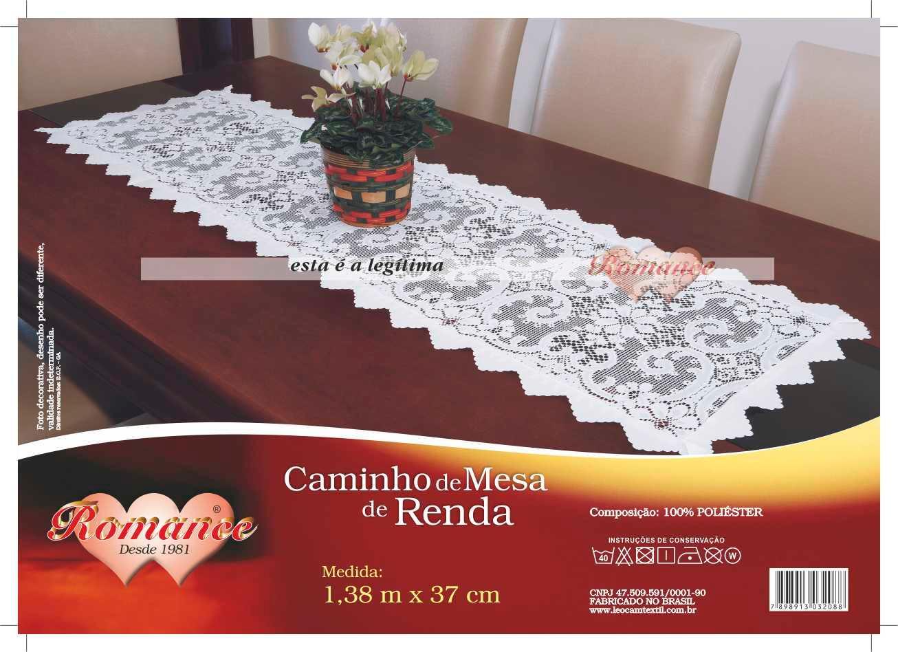 CAMINHO DE MESA 1,38X0,37MT