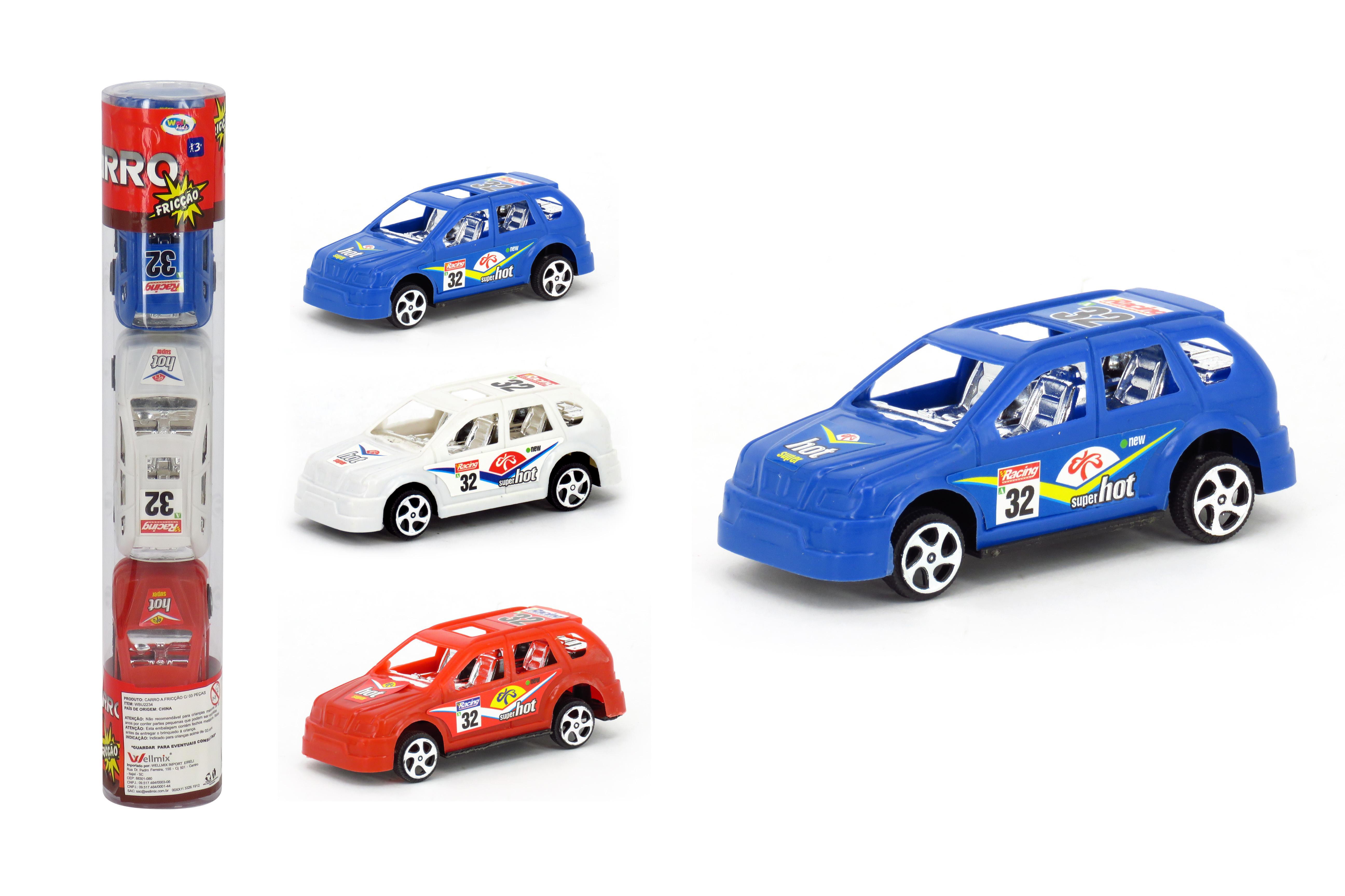 CARRO A FRICCAO 3PCS PVC SUPER CARRO