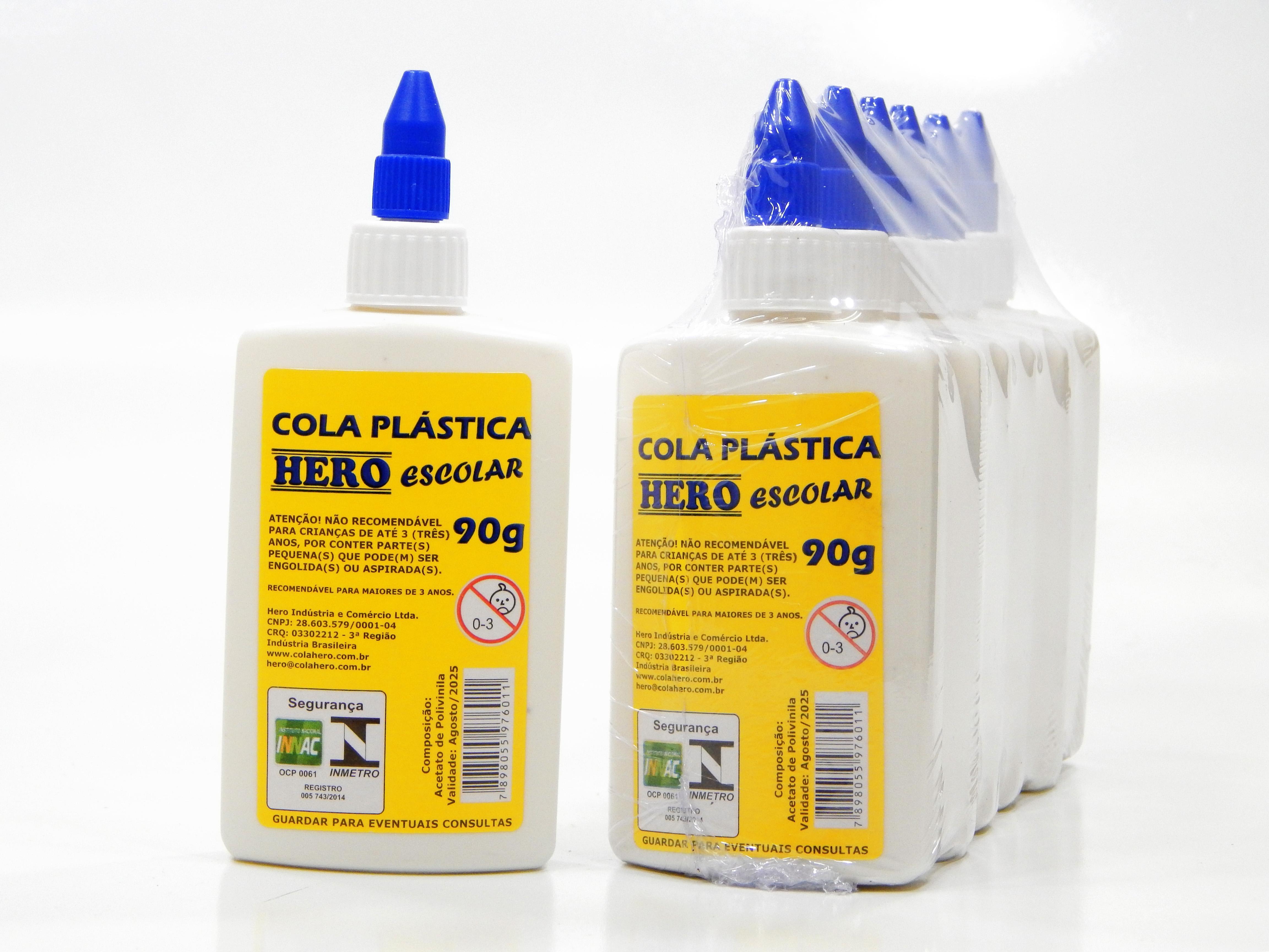 COLA PLASTICA ESCOLAR 90G C/6 UN