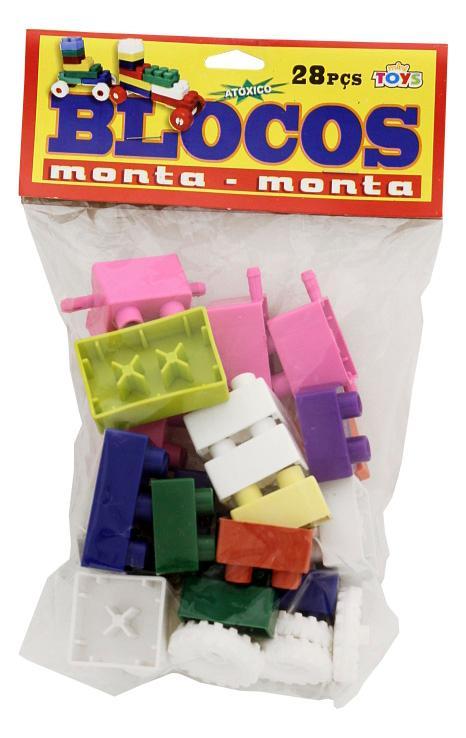 BLOCO MONTA MONTA C/28 PCS