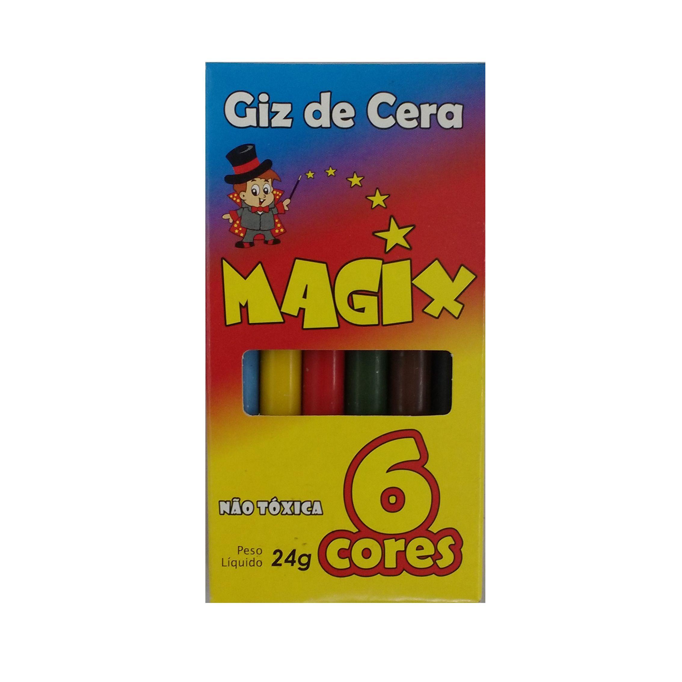 GIZ DE CERA 6 CORES 24G C/12 UN