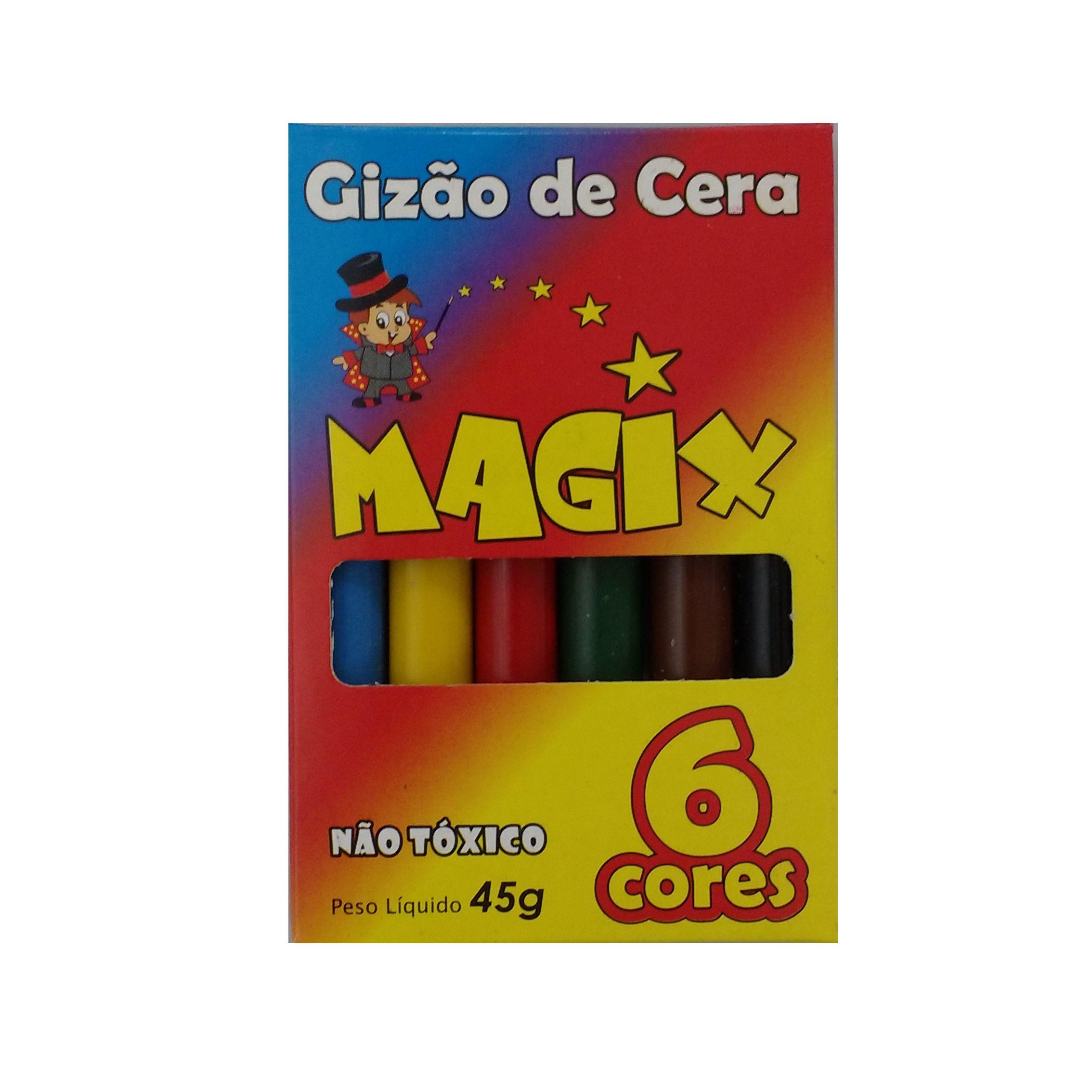 GIZAO DE CERA 6 CORES 45G C/12 UN