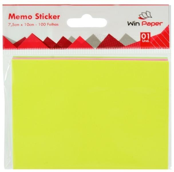 MEMO STICKER COLOR 7,5X10CM 100FLS
