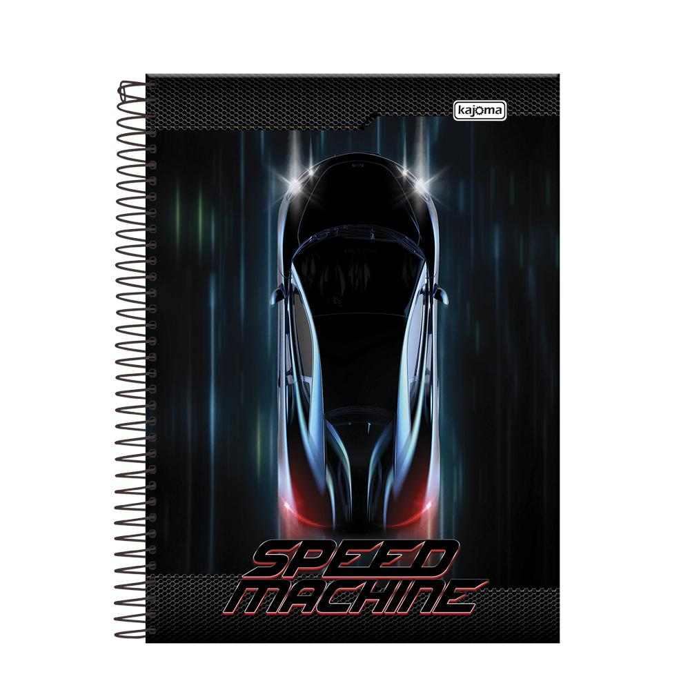 CADERNO UNIV CD C/ 96FLS BAZ SPEED MACH
