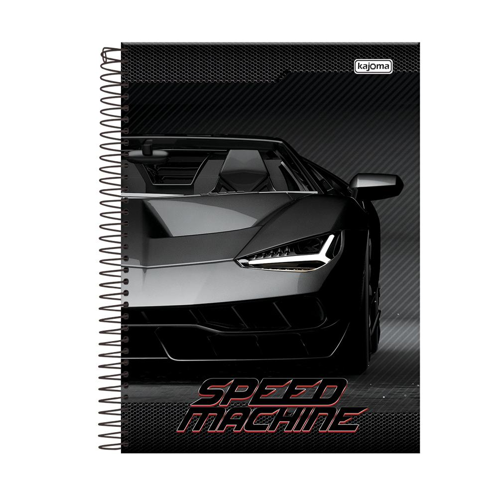 CADERNO UNIV CD C/400FLS BAZ SPEED MAC