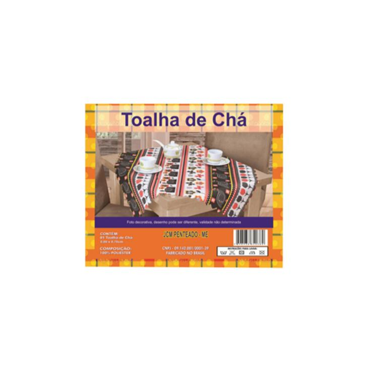 TOALHA DE CHA EM TECIDO 0,80X0,70CM